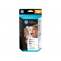 HP Photo Value Pack T9D88EE 364 50 Fogli + 3 Cartucce